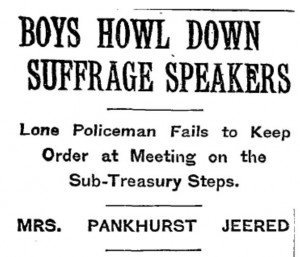 Boys Howl Down Suffragettes