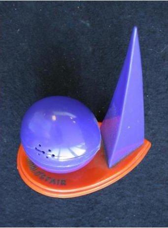 Salt and pepper shaker, 1939. Plastic. Gift of Bella C. Landauer, 2002.1.1928